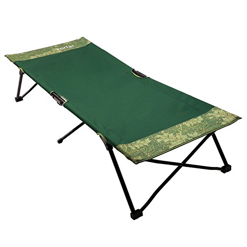 forfar folding camping bed portable lightweight comfortable cot green camp bed office